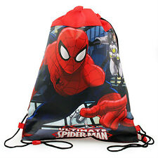 LOT 12 MARVEL HEROE SPIDERMAN Kids Sling Bag Tote Backpack BIRTHDAY PARTY FAVORS