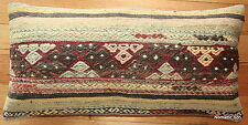 (40*80cm, 16*32inch) Boho style Handwoven kilim cushion cover greys faded