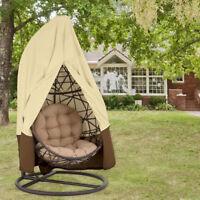 Jardin de rotin en osier balançoire chaise de siège meuble imper couvercle zippé
