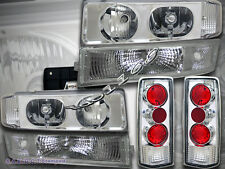 1995-2005 Chevy Astro Van Clear Headlights w/ Bumper Lights + Tail Lights 6PCS