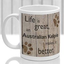 Australian Kelpie dog mug, Kelpie dog gift, ideal present for dog lover