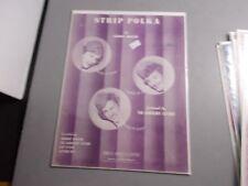 *b The Andrew Sisters-Strip Polka -Sheet Music- Vintage