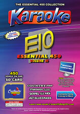 Chartbuster Essential 450 Karaoke Songs Vol 10 SD Card or USB CDG Music 4 PLAYER