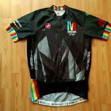 Castelli Maratona Dles Dolomites Full Zip SS Cycling Jersey Size: M