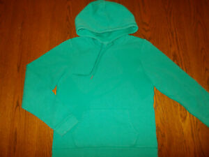 UNDER ARMOUR AQUA BLUE HOODED SWEATSHIRT WOMENS MEDIUM EXCELLENT CONDITION