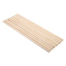 10pcs 30cm Natural Wooden Craft Sticks Hardwood Dowels Poles Rods DIY 5 Sizes EB