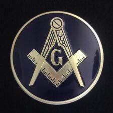Masonic Car Auto Emblem (Dark Blue) MAE-2