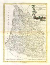 """""""Li Governi di guyenna e guascogna.."""" Guyenne Gascuña Aquitania. zatta 1779 Mapa"""