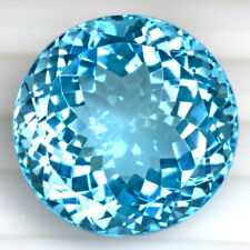 Natural Swiss Blue Topaz Round Cut Brazil Gemstone 39.0 Cts 20 mm Flawless Huge