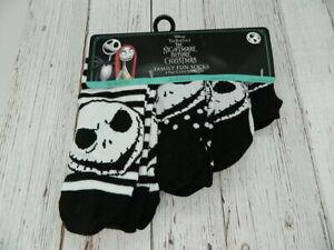 Disney The Nightmare Before Christmas Family 4 Pair Crew Socks Black Set NEW