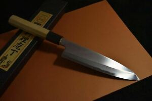 Japanese Chef Knife Itsuo Doi Shirogami White 3 Wa Santoku 175mm from Japan *F/S