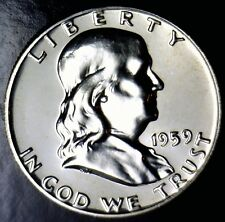 1959 GEM PROOF Franklin Half Dollar Silver Coin NICE MIRRORS     NO RESERVE