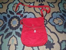 NWT Baggalini Dublin red nylon bag purse tote crossbody