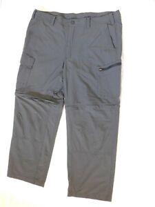 GANDER MOUNTAIN men's outdoor Zip-off Pants 40/30 dark gray