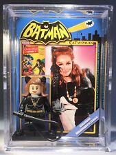 Cat Woman Custom Mini Action Figure w Case & Lego Stand 296 Batman 66 Minifigure
