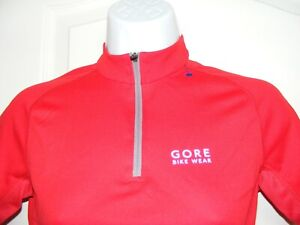 """WOMEN'S SMALL GORE BIKE WEAR 36"""" CHEST RED BNWOT CYCLE CYCLING JERSEY BICYCLE"""