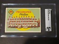 1959 Topps Philadelphia Phillies Team Card SGC 5 Newly Graded & Labelled PSA BVS