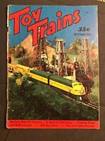 Vintage Toy Trains Magazine October 1953 Model Railroad