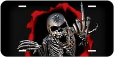 Skull Chopper Halloween Aluminum Tag Novelty Car License Plate