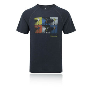 RonHill Mens Stride Graphic T Shirt Tee Top Black Sports Running Breathable