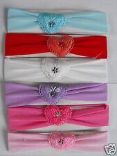 LOT de 6 bandeaux avec coeur papillon serre tête cheveux enfant couleur