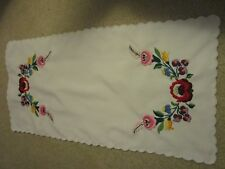 Kalocsa Hungarian  hand embroidered table clout colorful