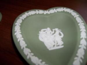 Wedgewood Green Heart Shaped Small Dish