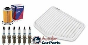 Service Kit OIL AIR FILTER SPARK PLUGS gm ACDelco suitable for HOLDEN VE V6 Comm