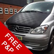 Mercedes Vito (2004 - 2013) Bonnet Bra (Black On Black Chequered) Van-X