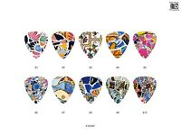 Stone Mosaic Pattern Guitar Pick Set (10pcs)
