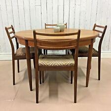 G Plan Mid Century Table and 4 Chairs Vtg Retro Design Heals Day Danish Teak 70s
