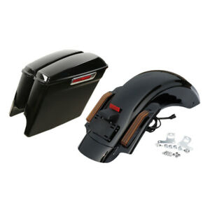 """5"""" Extended Saddlebags Rear Fender Fit For Harley Touring Electra Glide 14-21 17"""