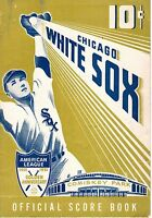 1951 Baseball Program, St. Louis Browns @ Chicago White Sox, unscored~Nellie Fox