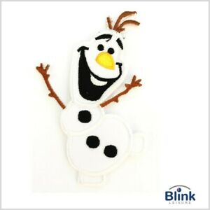"Frozen Movie: ""OLAF"" Embroidered Iron-On / Sew On Patches Applique (6cm x 10 cm)"