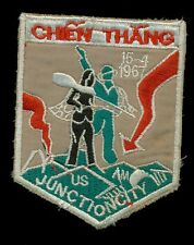 US Army ARVN 1967 Chien Thang Junction City Vietnam Patch F-3