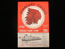 1952 Buffalo Bisons @ Syracuse Chiefs AAA Baseball Program