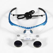 Dental 3.5X Loupes Binocular Magnifier Medical Surgical Glasses 3.5x420mm Blue