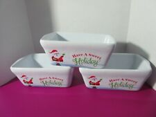 """3 Santa """"Have A Sweet Holiday"""" Mini Loaf Pans Celebrate It"""