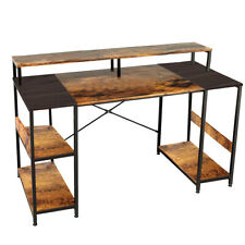 59 Splice Board Computer Desk With Monitor Stand Gaming Home Study Workstation