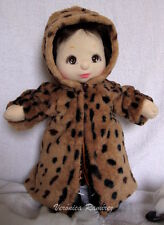 Long Faux Fur Coat for My Child Doll