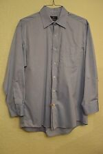 New Dry Cleaned CLUB ROOM Men's Blue SHIRT Regular Fit Big Tall 100% Cotton