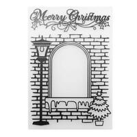 Merry Christmas DIY Scrapbooking Plastic Embossing Template Folder Stencil L&6