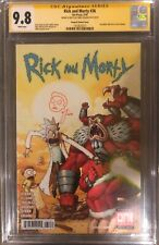 Rick and Morty #36 CGC 9.8 Signed & Sketch Vasquez Variant Hulk 181 Homage SS