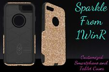 "Otterbox Commuter Series Custom Glitter Case for 4.7"" iPhone 7 Gold/Black"