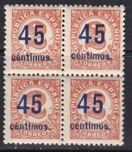 España - 1938 EDIFIL 743 - Bloque 4 - MNH - Valor 156 €