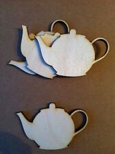 X5 Lasercut Wooden Teapot Shapes, Crafts