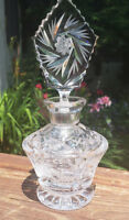 Pressed and Etched Glass Perfume Bottle