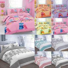 Love Friendship Owl Duvet Quilt Cover With Pillow Cases Bedding Set for Kids