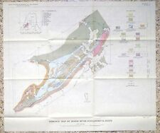 Usgs Maine Geology Moose River Syncline, 1961 With Original Map! Scarce