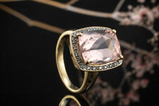 Schmuck Ring Fabelhafter Morganit mit Diamanten Brillanten rundum in Gelbgold